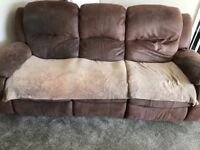 Free reclining sofa 3 and 2 seater