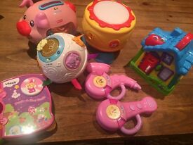 Selection of baby girls musical interactive toys including vtech