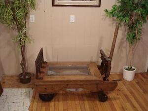 Antique Platform Scale Coffee Table
