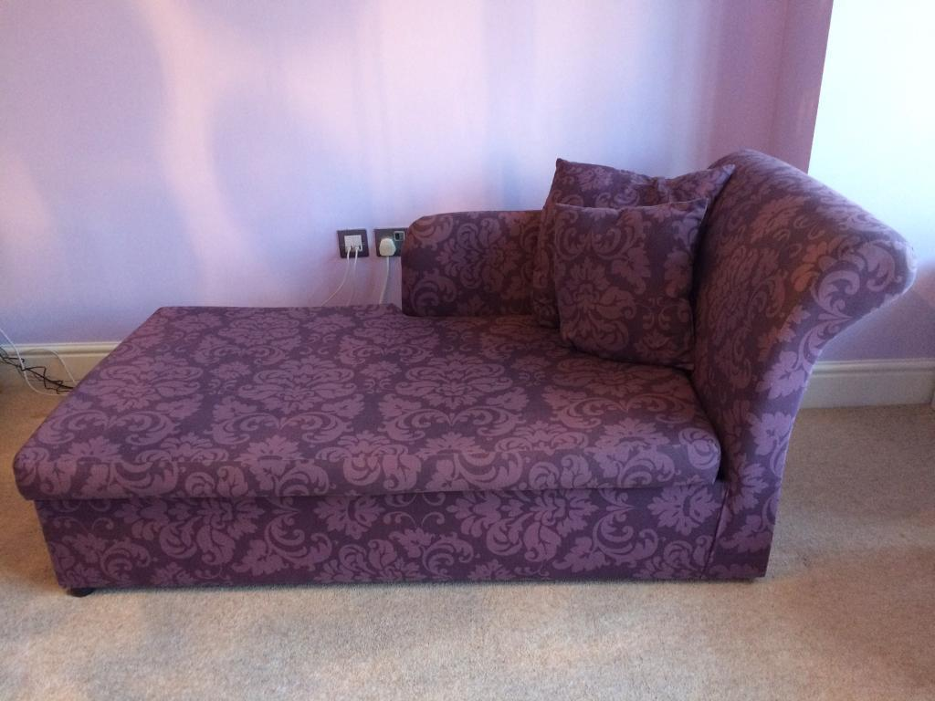 Argos home chaise longue sofa bed in kilwinning north for Chaise longue double sofa bed