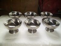 6 SMALL STAINLESS STEEL BOWLS