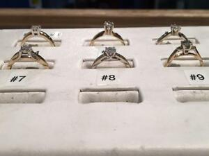 **LADIES DIAMOND RINGS** WHITE GOLD & YELLOW GOLD! ~~DIAMONDS ~ DIAMONDS~~ *STARTING AT ONLY $195.00*