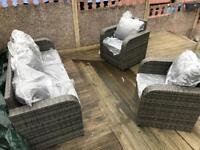 Outdoor rattan garden 5 seater sofa set new - reclining seats - free delivery available