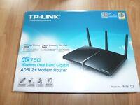 TP-LINK AC750 Wireless Dual Band Gigabit Modem Router