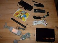WII CONSOLE NINTENDO BLACK WITH SIMPSONS GAME