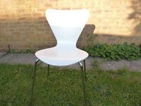 Art Deco chairs white