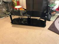 Black Glass Tv Stand - 130cm