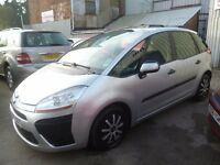 Citroen C4 PICASSO SX HDI,new shape 5 dr hatchback,FSH,1 previous owner,runs and drives well,YT07JXK