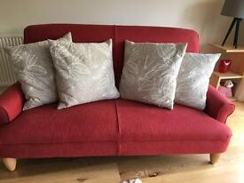 4 LARGE FEATHER CUSHIONS