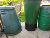 Various Garden Accesories. Water Butt and Compost Bucket etc