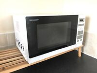 "NEW ""Sharp"" microwave modern white"