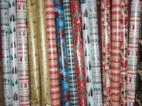 16 rolls 6 to 10m long x 70cm wide christmas wrapping paper inc foil and disney