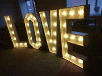 4ft Wedding Love Letters - NEW