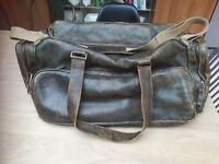 New Mens Leather holdall