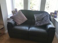 2seater Italian leather sofa in grey