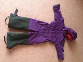 Purple helly Hansen ski suit age 4