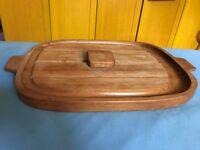 BURMA TEAK Carving Board, as new, large size, handmade in England, super bargain, £15