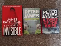 Peter James 3 books: A Twist of a knife, Perfect people, Invisible