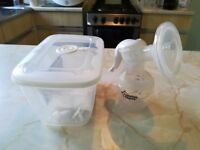 Tommee Tippee breast pump and bottles