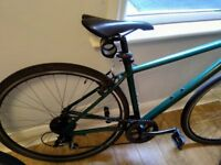 Pinnacle Neon One flat-bar, hybrid bike, with Gator Skin tyres , custom Royal Green , 9KG weight