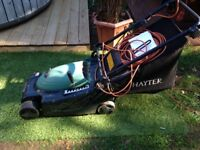 HAYTER ENVOY 36 ELECTRIC LAWNMOWER VERY GOOD USED CONDITION WITH INSTRUCTION BOOKLET FREE DELIVERY
