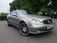 2005 MERCEDES CLK 240 SOFT TOP CONVERTIBLE AUTOMATIC - NEW MOT - WARRANTY
