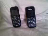 2 samsung phones.
