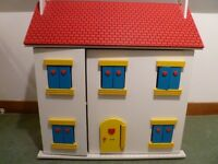 Plan Toys Wooden Dolls House with Accessories
