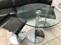 Ligne Roset Glass Bobine dining table
