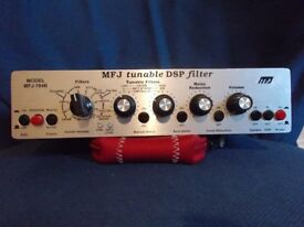 MFJ-784b tunable dsp filter . Good condition with audio lead but no power supply.
