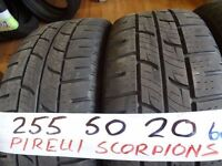 matching set of 255 55 20 pirelli scorpions 6mm tread £50 each sup & fitd or £180 set of 4 7-dys