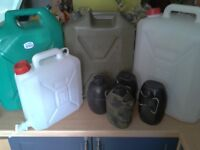 MOD Army issue 1 & 20 Litre water containers from £5 each