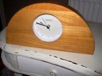 NEXT WOOD ARCH MANTLE CLOCK