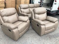 NEW/Cancelled order Stunning fully reclining 3+1+1 suite
