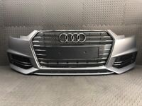 2016 - 2019 AUDI A4 S4 B9 S-LINE - NEARLY COMPLETE FRONT BUMPER IN SILVER - WITH ALL GRILLS BREAKING for sale  Halifax, West Yorkshire