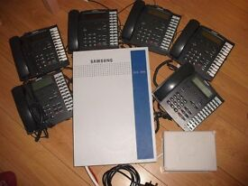 Smasung Office Phone system, 6 phones, control panel, DCS 816
