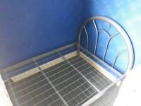 Single bed frame silver