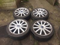ford fiesta ,escort,focus,puma st 150 alloys,good tyres,£180