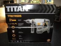 SDS Drill - Titan TTB278SDS Corded SDS Plus Drill 230-240V - Brand New (Unwanted Gift) Still Boxed
