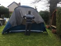 A free standing motor home awning in excellent condition