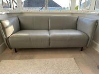 Twin Grey Leather DFS sofa's