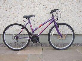 Ladies Bicycle 48 cm frame with 58 cm wheels.
