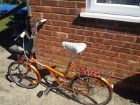 Retro Raleigh Twenty shopper BSA bike flame red from the 70s in very good condition £85