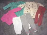 Next and M&S baby girls 0-3 month dress leggings bundle
