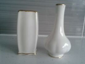 2 matching Royal Albert Bone China vases.