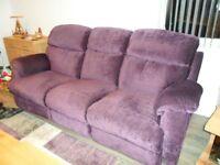 3/4 Seater recliner Sofa (Purple/Plum)