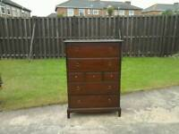 Stag minstrel 7 drawer tall boy chest of drawers