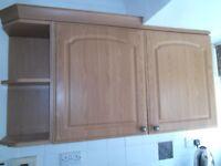 FREE 2 kitchen wall cabinets oak colour