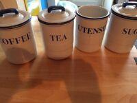 Tea coffee sugar containers