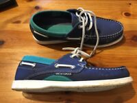 Ladies Size 5 blue/turquoise leather Yachtsman deck shoes